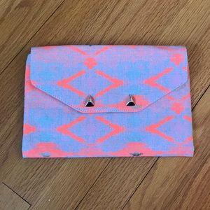 Stella & Dot City Slim Aztec Envelope Clutch